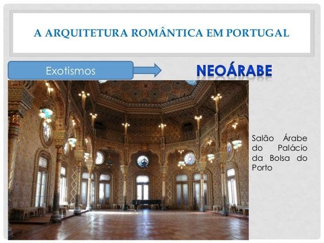 A ARQUITETURA ROMÂNTICA EM PORTUGAL Exotismos Salão Árabe do Palácio da Bolsa do Porto