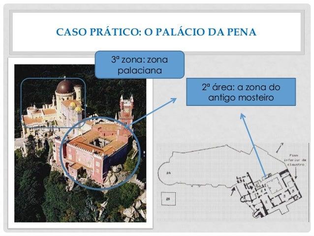 CASO PRÁTICO: O PALÁCIO DA PENA 2ª área: a zona do antigo mosteiro 3ª zona: zona palaciana