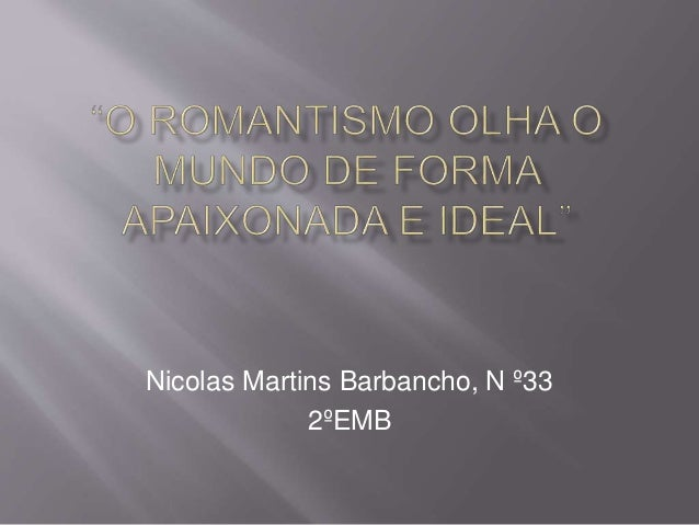 Nicolas Martins Barbancho, N º33 2ºEMB