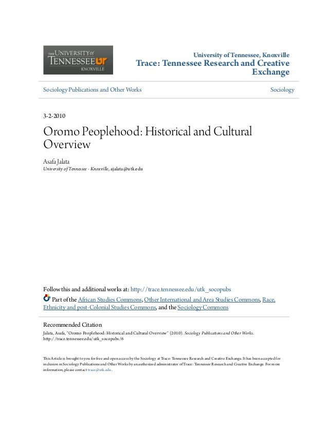 University of Tennessee, Knoxville Trace: Tennessee Research and Creative  Exchange Sociology Publications and Other ...
