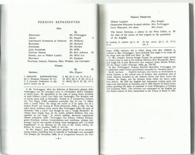 Oroonoko Essay  Hepatitze Caam  Writing The Masters Thesis Spring  Oroonoko Essay
