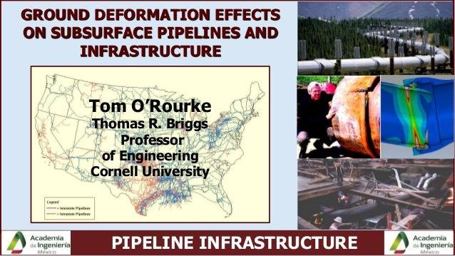 PIPELINE INFRASTRUCTURE Tom O'Rourke Thomas R. Briggs Professor of Engineering Cornell University GROUND DEFORMATION EFFEC...