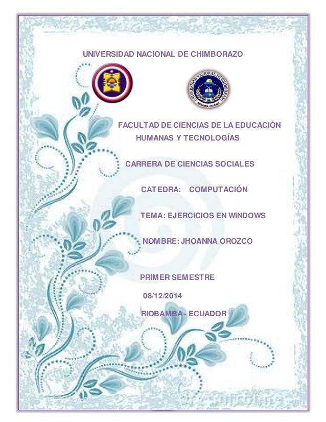 LAS REDES SOCIALES MAS UTILIZADAS I UNIVERSIDAD NACIONAL DE CHIMBORAZO FACULTAD DE CIENCIAS DE LA EDUCACIÓN HUMANAS Y TECN...
