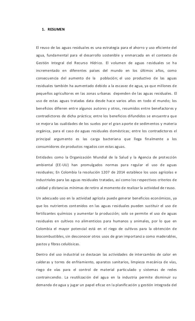 REUSO DE AGUAS RESIDUALES Slide 2