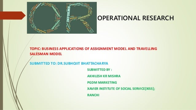 Operational research essay