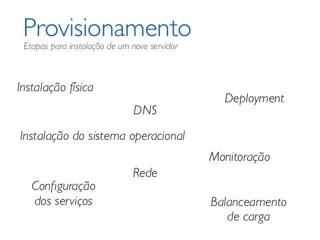 Provisionamento Etapas para instalação de um novo servidorInstalação física                                               ...
