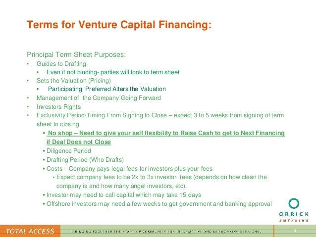 negotiating venture capital term sheets