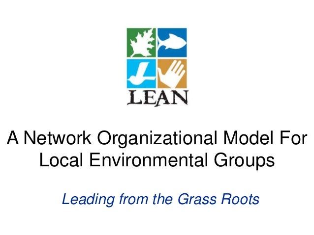 A Network Organizational Model For Local Environmental Groups Leading from the Grass Roots