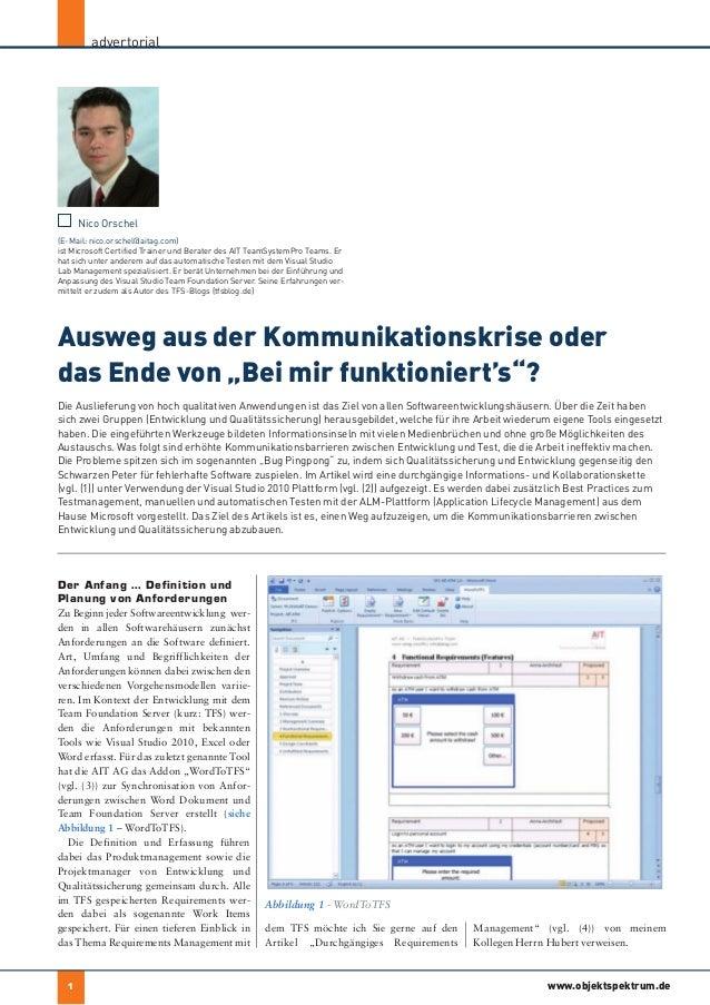 advertorial                                                                             der autor      Nico Orschel(E-Mail...