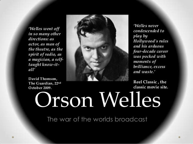 'Welles never'Welles went off                    condescended toin so many other                    play bydirections: as ...