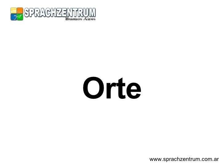 Orte www.sprachzentrum.com.ar