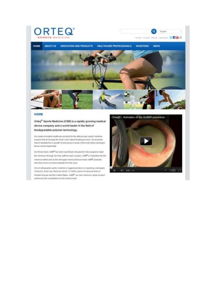 TGJ Communicatie Orteq Sports Medicine webdesign