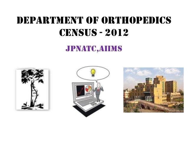 Department of orthopedicsCensus - 2012JPNATC,AIIMS