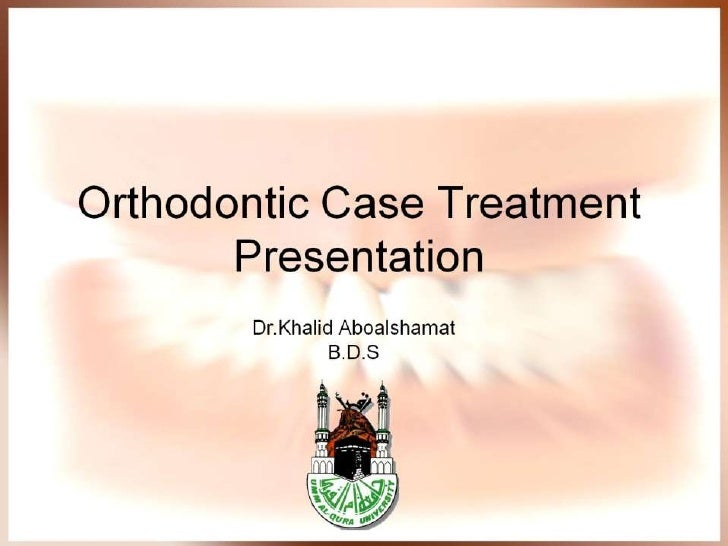 Orthodontic case presentation toneelgroepblik Gallery