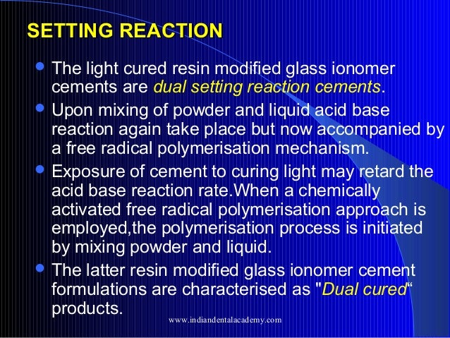 polymerisation of light cured resin cements Effect of waiting interval on chemical activation mode of dual-cure one-step self-etching  these adhesives were cured with light activation  resin cements.