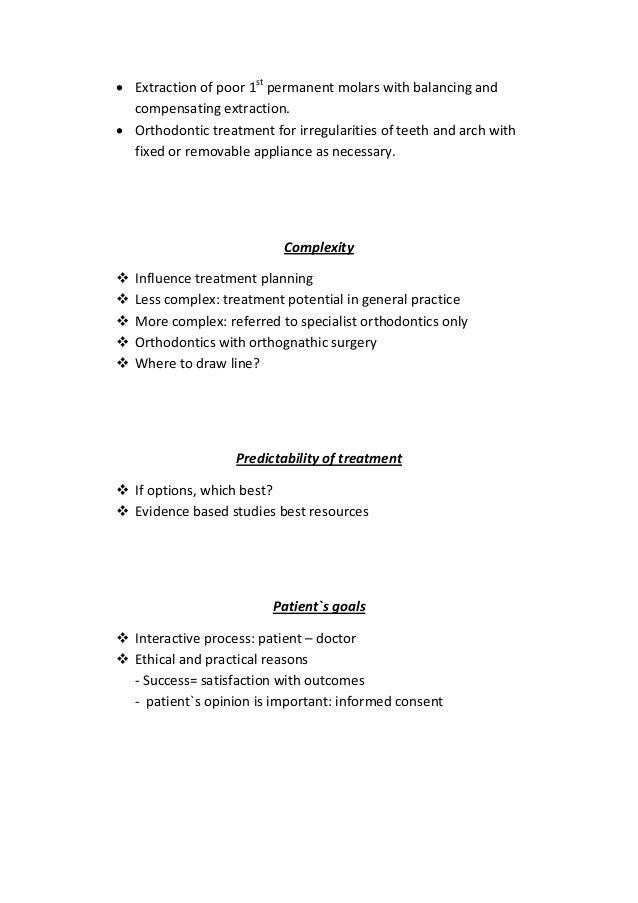 Orthodontic treatment planning