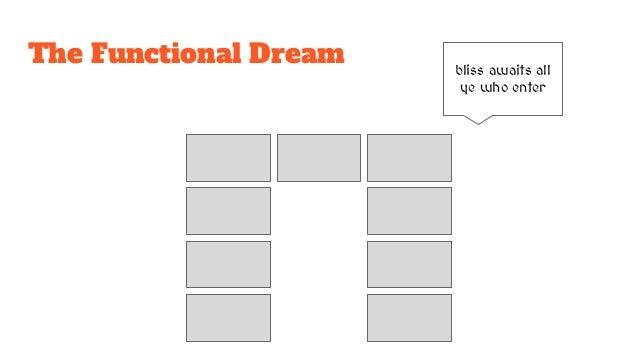 The Functional Dream bliss awaits all ye who enter