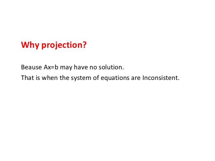 orthogonal porjection in statistics