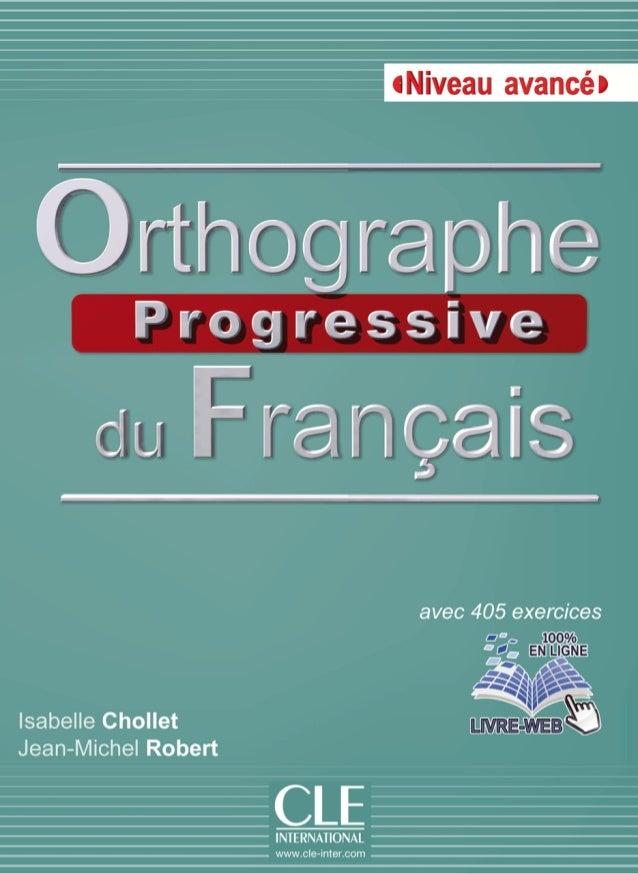 Orthographe Progressive Niveau Avance