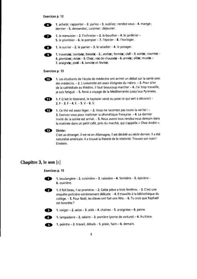 Orthographe progressive du français  niveau intermédiaire- corrigés Slide 3