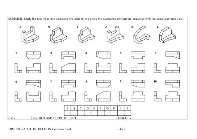 Printables Orthographic Projection Worksheet orthographic projection exercises exercise6 mod 14 7