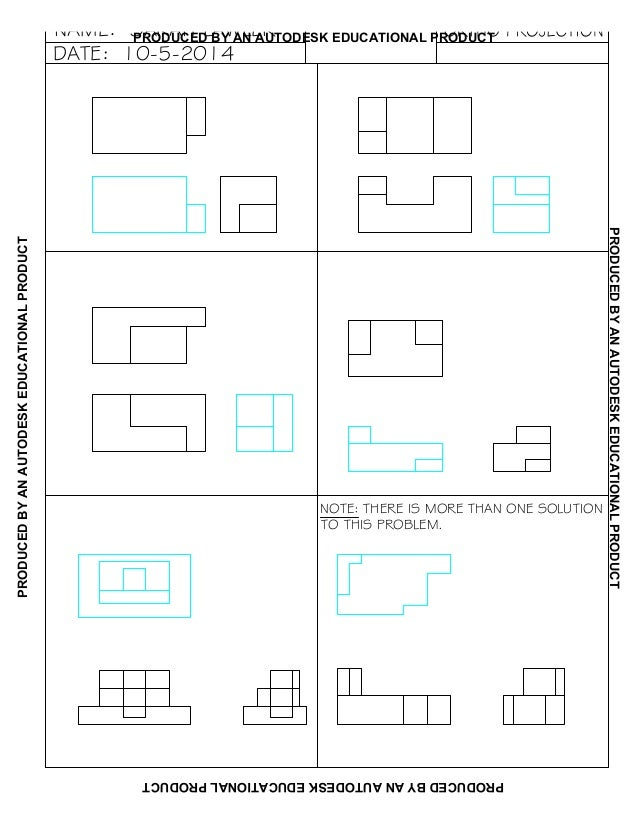orthographic projection worksheet sarah lawler resubmit. Black Bedroom Furniture Sets. Home Design Ideas