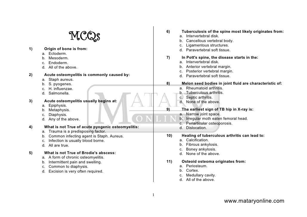 Orthopaedics Mc Qs Slide 2