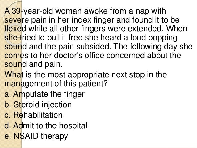 A 41 -year-old man presents to the ED after acute onset of lower back pain that began after he tried to lift an engine blo...
