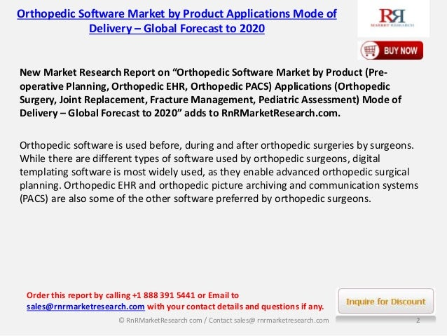 orthopedic templating software - global orthopedic software market 2020 is broadly