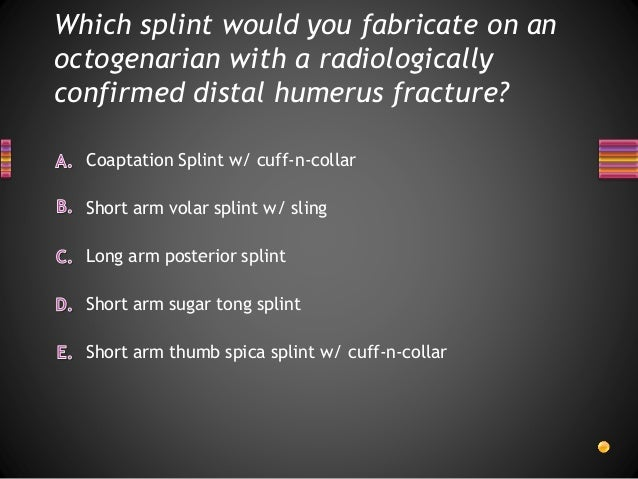 Orthopedic Splinting