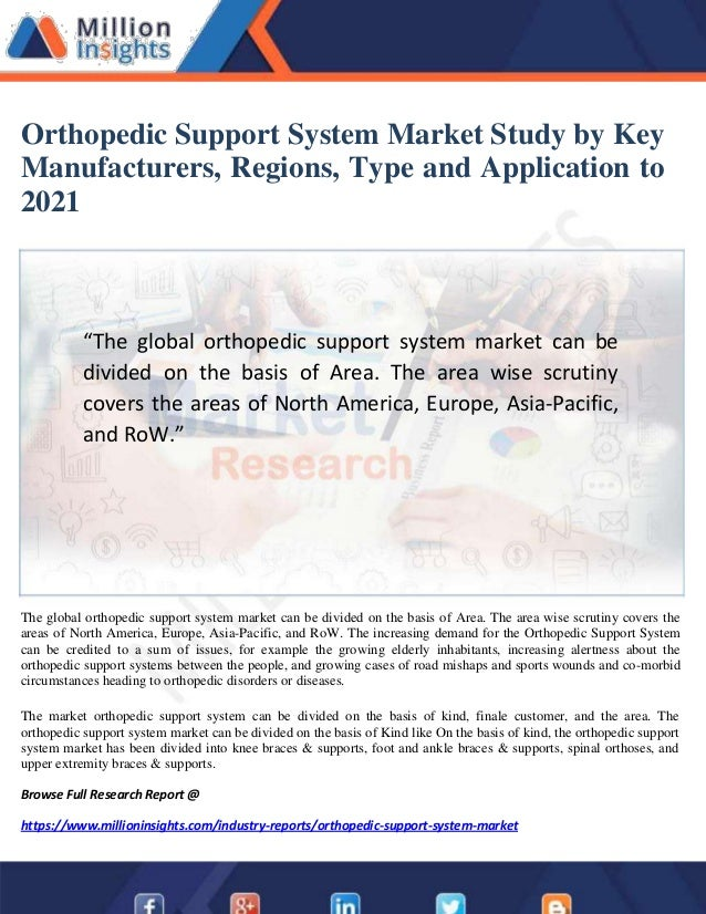 Orthopedic Support System Market Study by Key Manufacturers