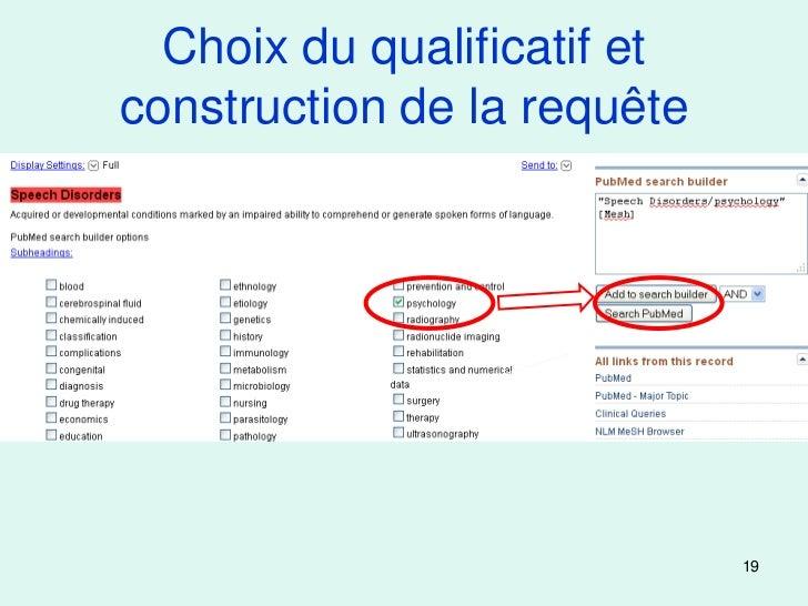 Choix du qualificatif etconstruction de la requête                             19