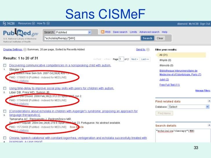 Sans CISMeF              33