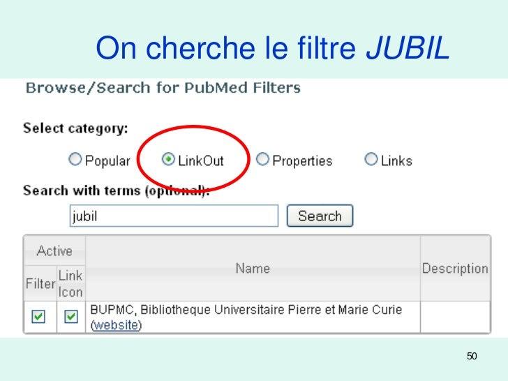 On cherche le filtre JUBIL                             50