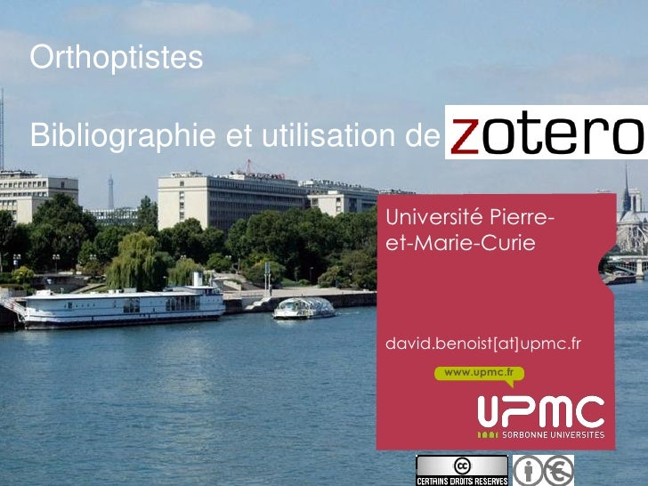 OrthoptistesBibliographie et utilisation de Zotero                          Université Pierre-                          et...