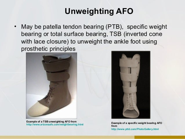 Orthotic overview for Floor reaction afo
