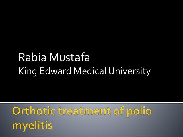 Rabia Mustafa King Edward Medical University