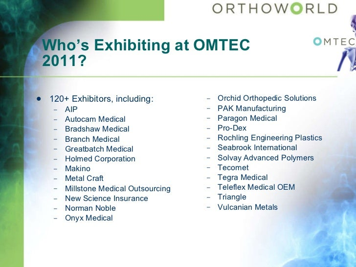 Orthoworld Overview
