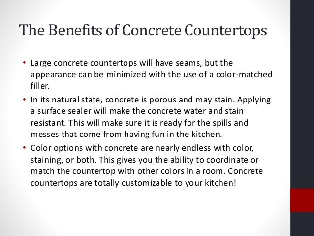 3. The Benefits Of Concrete Countertops ...
