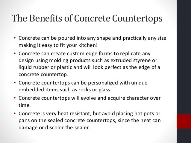 4. The Benefits Of Concrete Countertops ...