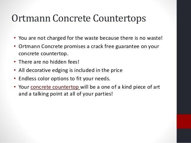 5. Ortmann Concrete Countertops ...