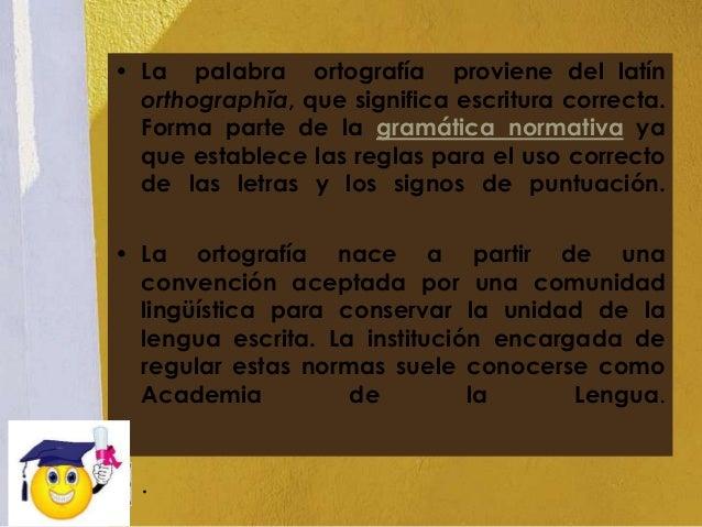 Ortografía power point Slide 2