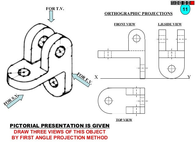FOR T.V. ORTHOGRAPHIC PROJECTIONS FRONT VIEW  FO R  R FO  X F. V.  L.H.SIDE VIEW  Y  . .V S  TOP VIEW  PICTORIAL PRESENTAT...