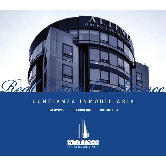 Real Estate Confidence    C o n f i a n z a     I n m o b i l i a r i a          PATRIMONIO   PROMOCIONES   CONSULTORÍA