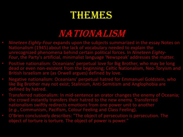george orwell s 1984 thematic analysis What are the main themes in 1984  what are the most important themes and concepts in george orwell's 1984 which theme of 1984.