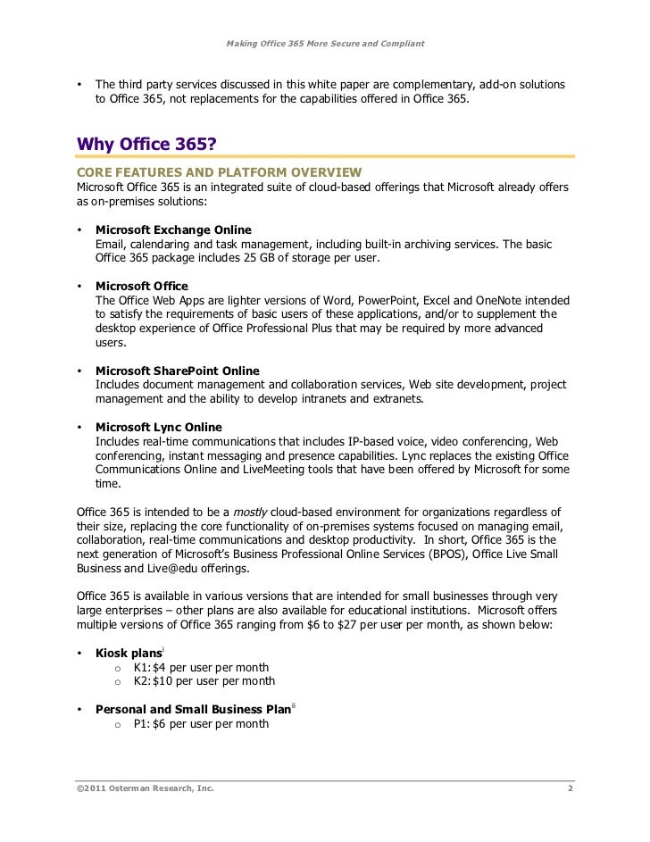 Office 365 Components