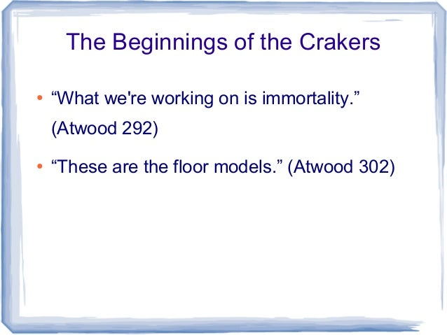 atwood oryx and crake summary