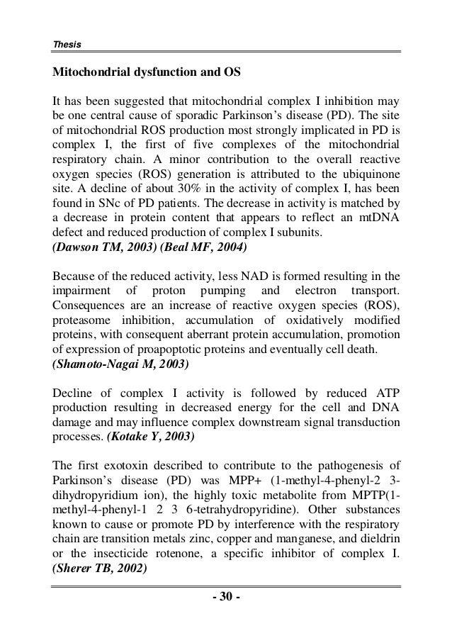 Zinc thesis