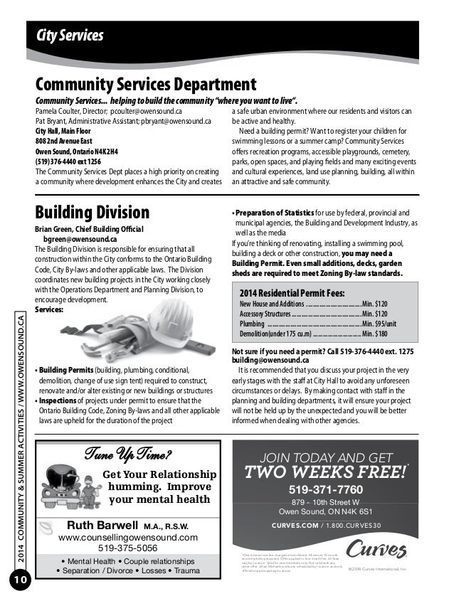 Owen sound community and summer activities guide 2014 customer service 10 fandeluxe Gallery