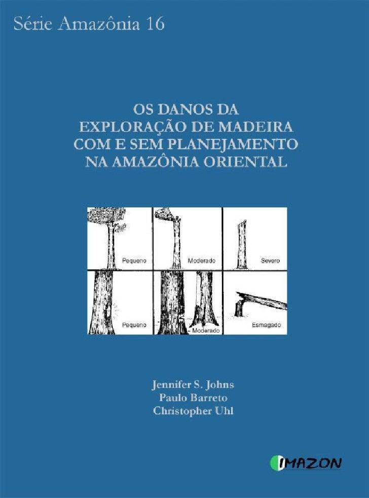 OS DANOS DA   EXPLORAÇÃO DE MADEIRA COM E SEM PLANEJAMENTO NA     AMAZÔNIA ORIENTAL